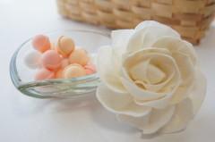 バラの花とスイーツ
