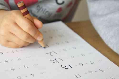 計算する子供