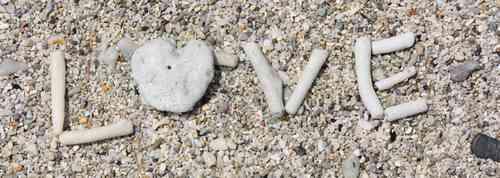 砂に書いたLOVE