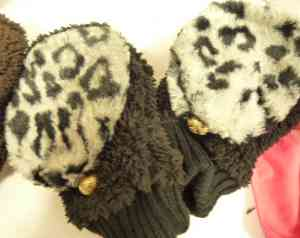 ヒョウ柄手袋
