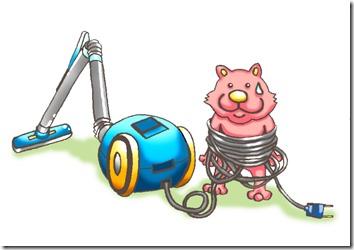 掃除機と豚