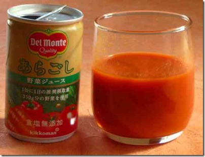 あらごし野菜と果物ジュース