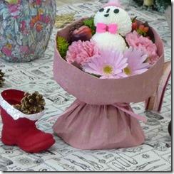 雪だるまの花束