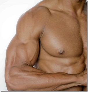 筋肉質な体