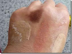 クレンジング使用後の手の甲