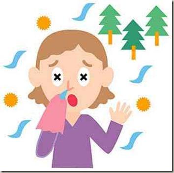アレルギー性鼻炎で悩む少女