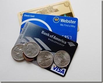 クレジットカードと外国コイン
