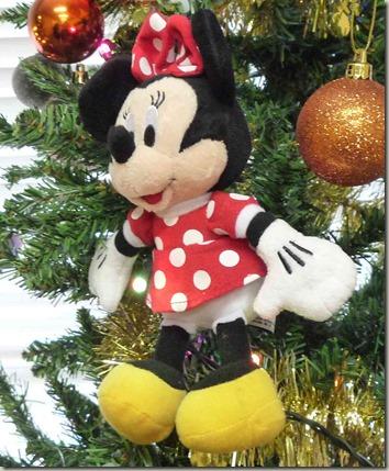 ミッキーフレンズクリスマスツリーのミニーオーナメント