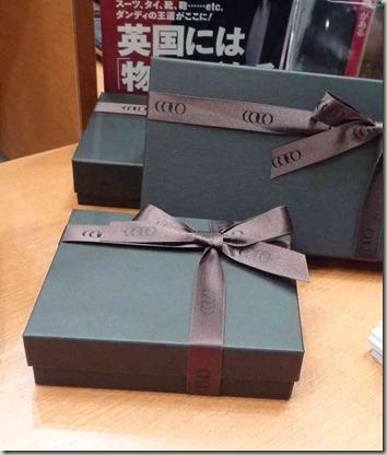 ココマイスターのプレゼント用の箱