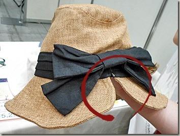 髪の毛を結んだままかぶれる帽子