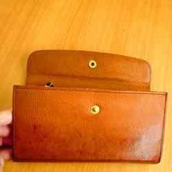 経年変化後マットーネ革財布