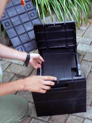 スタッキングできる折りたたみ式収納ボックス