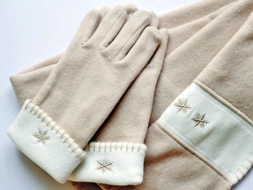 フリースの手袋