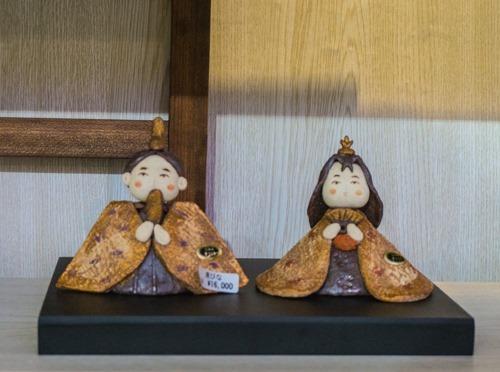 信楽焼き雛人形