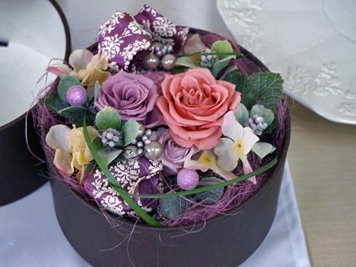 バラ咲き桃のアントルメ