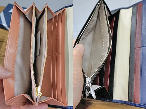 バイカラー財布をレディスとメンズで小銭入れを比較