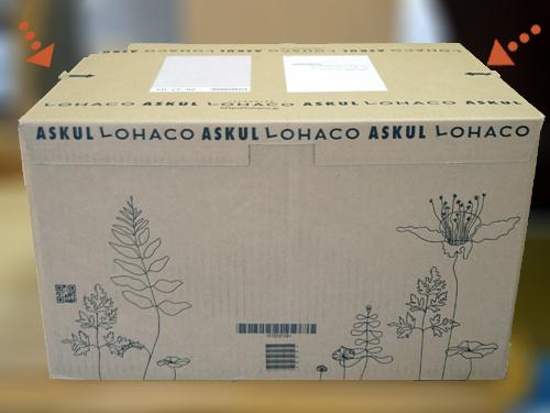 ロハコの梱包箱