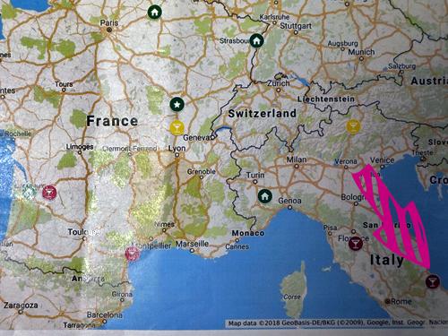 イタリアの白ワインの地図