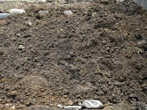 2回耕した後の土