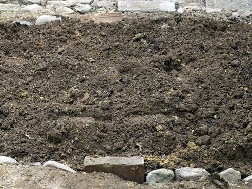 3回耕した後の土