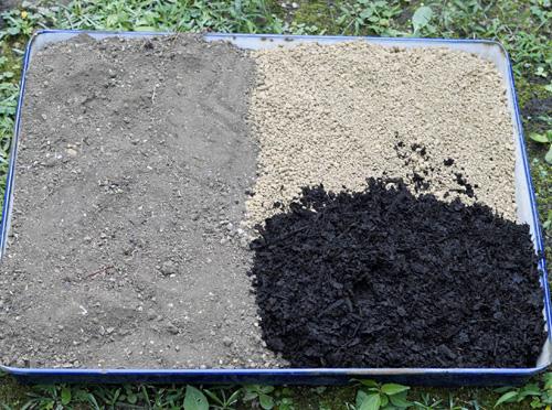 再生土とブレンド米の割合