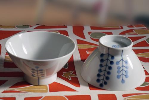 表側と裏側の2個のお茶碗