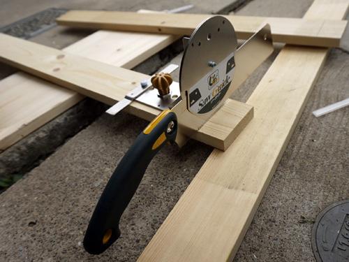 ソーガイドを使う時の木材のセッティング