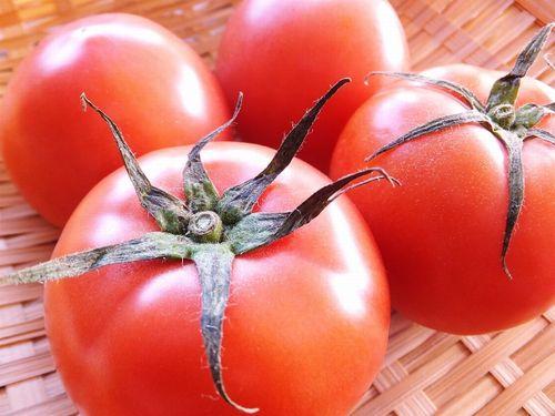 ミニトマトがざるにのっている