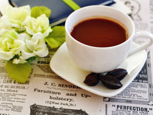 コーヒー豆と一緒にコーヒー