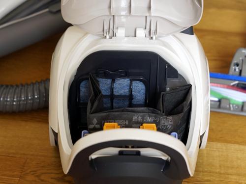 三菱TC-FJ2X掃除機の内部の写真